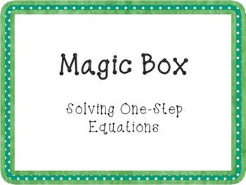 Magic Box One-Step Equations