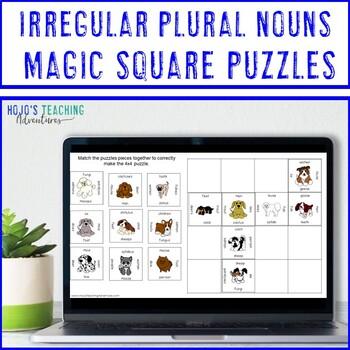 Irregular Plural Nouns Puzzle Literacy Center | Irregular Plurals
