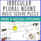 Irregular Plural Nouns Puzzle Literacy Center | FUN ELA Game or Activity