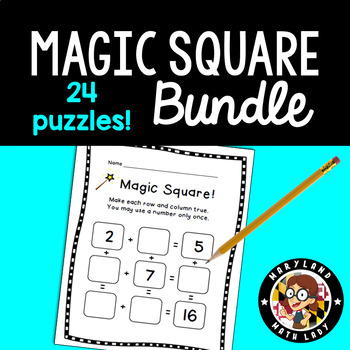 Magic Squares Addition Worksheets & Teaching Resources | TpT