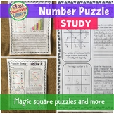 Magic Square Puzzle and other Number Puzzle Study Investigation