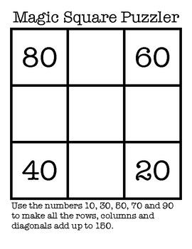 Magic Square Puzzlers