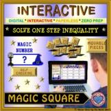 Magic Square: Solve 1-Step Inequalities (Google Interactive & Hard Copy)