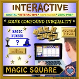 Magic Square: Solve Compound Inequalities (Google Interactive & Hard Copy)