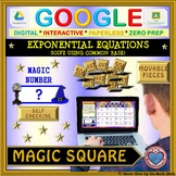 Magic Square: Solve Exponential Equations Common Base (Google & Hard Copy)