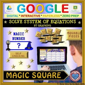 Magic Square: Solve System of Equations by Graphing (Google Interactive &  Copy)