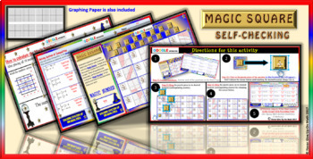 Magic Square: Solve System of Inequalities (Google Interactive & Hard Copy)