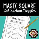 Magic Square!  Subtraction Fact Reasoning Puzzles