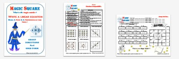 Magic Square - Writing Linear EQ of point & perpendicular line (2 Versions)