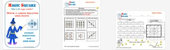 Magic Square - Writing Linear Equations from Graphs (Slope-Intercept & Standard)