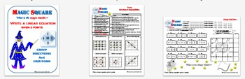 Magic Square - Writing Linear Equations from m & b (Slope-Intercept & Standard)