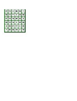 Magic Square (conditional verbs)