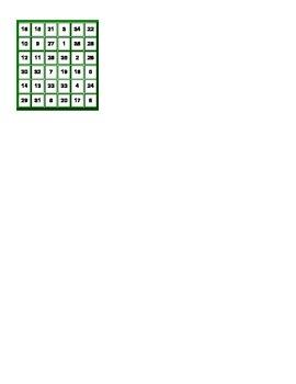 Magic Square (-er verbs, aller, venir, near future, near past)