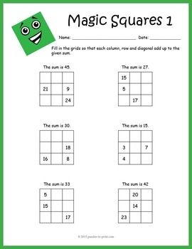 Magic squares math