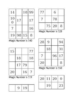 Magic Squares 4x4