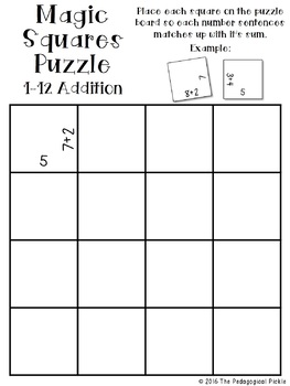 Magic Squares -- Addition and Subtraction