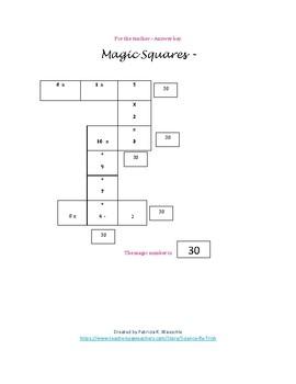 Magic Squares - Bacteria