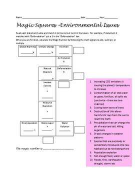 Magic Squares - Environmental Issues