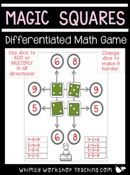 Magic Squares FREE Math Practice (Addition and Multiplication)