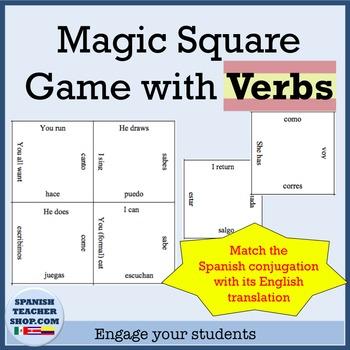 Magic Squares Game: Verbs