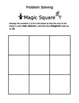 Magic Squares Math Game