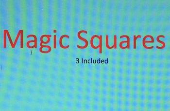 Magic Squares Math Puzzles