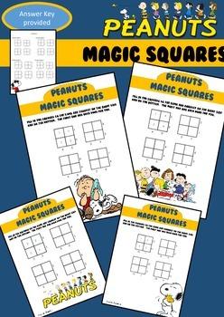 Magic Squares - Peanuts Themed