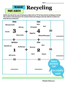 Magic Math Squares: Recycling