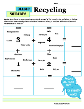 Magic Math Squares: Recycling