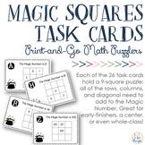 Magic Squares Task Cards {Math Center}