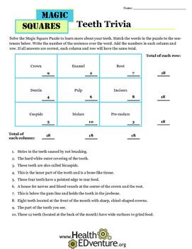 Magic Squares: Teeth Trivia