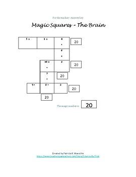 Magic Squares - The Brain