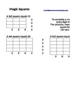 Magic Squares in Excel