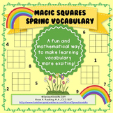 Spring Vocabulary with Magic Squares {for older students--middle/high school}