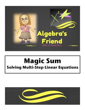 Multi-Step Equations: Magic Sum