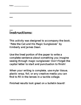 Magic Sunglasses Craftivity