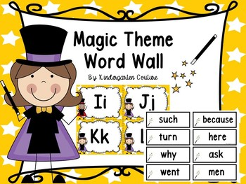 Magic Word Wall Letters And 200 Fry Words & Editable Page