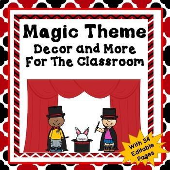 Magic Theme Classroom Decor and More Set