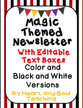 Magic Themed Newsletter With Editable Text Boxes