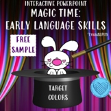 Magic Time Interactive Powerpoint for Learning Colors