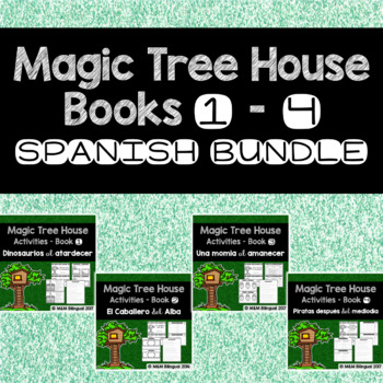 #hellosummer Magic Tree House #1-4 BUNDLE {Spanish}
