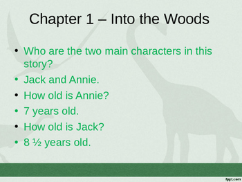 Magic Tree House #1: Dinosaurs Before Dark Book Study PowerPoint