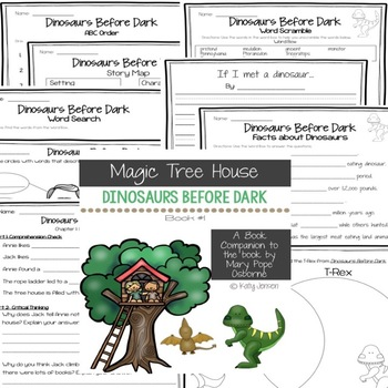 Magic Tree House #1, Dinosaurs Before Dark Book Companion & STEM Activities