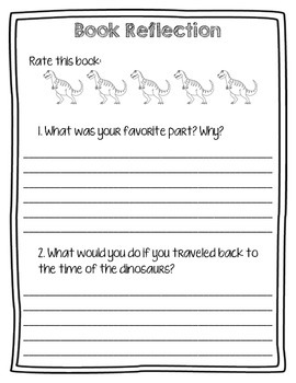 Magic Tree House #1: Dinosaurs Before Dark Comprehension Questions Booklet
