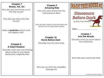 Magic Tree House #1 Reading Response Trifold