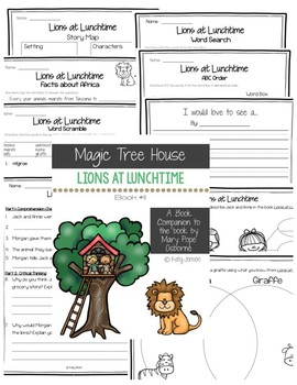 Magic Tree House #11, Lions at Lunchtime