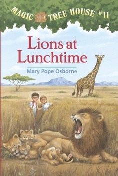 Magic Tree House #11 Lions at Lunchtime Powerpoint (Vocab/Writing Workshop)