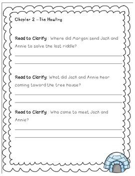 Magic Tree House #12 Polar Bears Past Bedtime - Novel Study/Comprehension