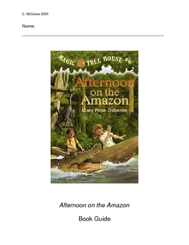 Magic Tree House #16:  Afternoon on the Amazon book guide
