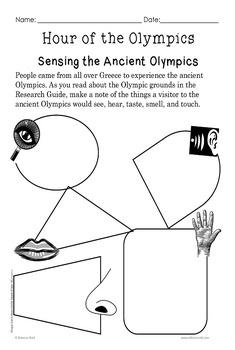 Magic Tree House #16 Hour of the Olympics Idea Organizers